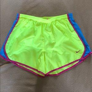 Women's Neon Nike Running Shorts (Youth XL)